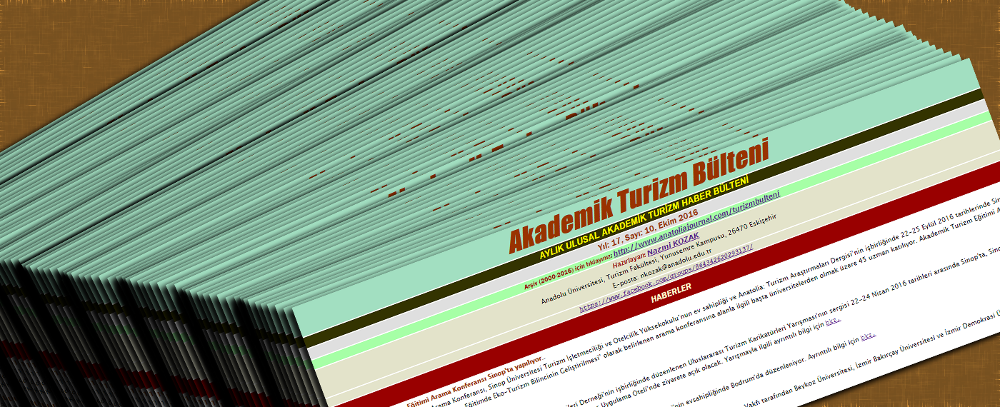 Academic Tourism Newsletter (In Turkish)
