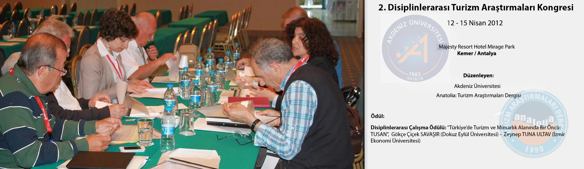 2. Disiplinlerarası Turizm Araştırmaları Kongresi