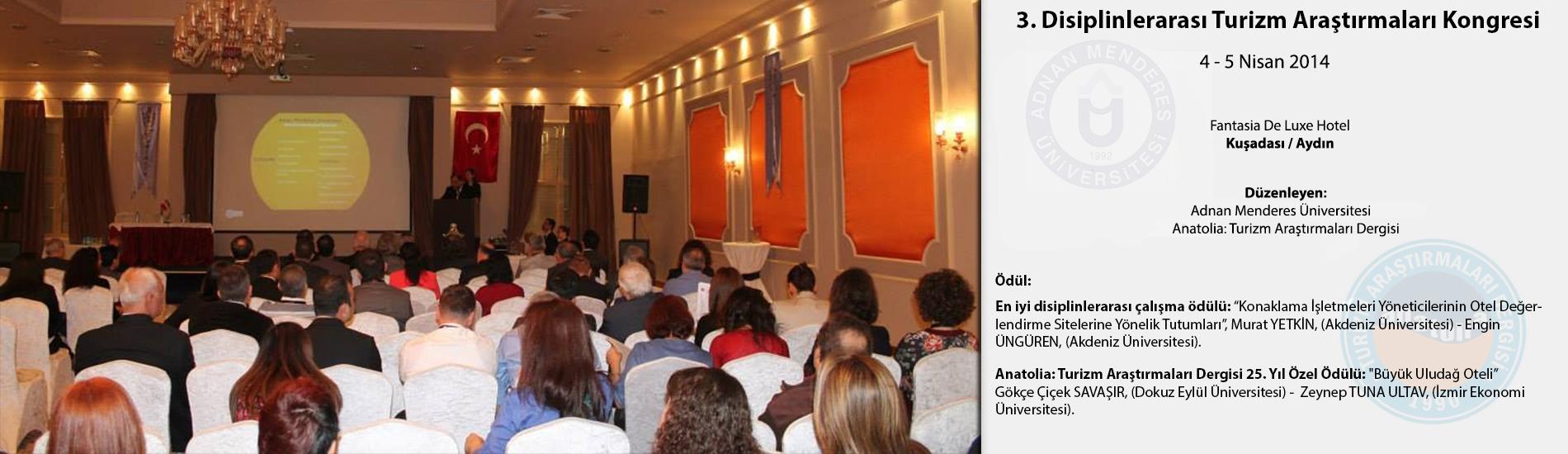 3. Disiplinlerarası Turizm Araştırmaları Kongresi