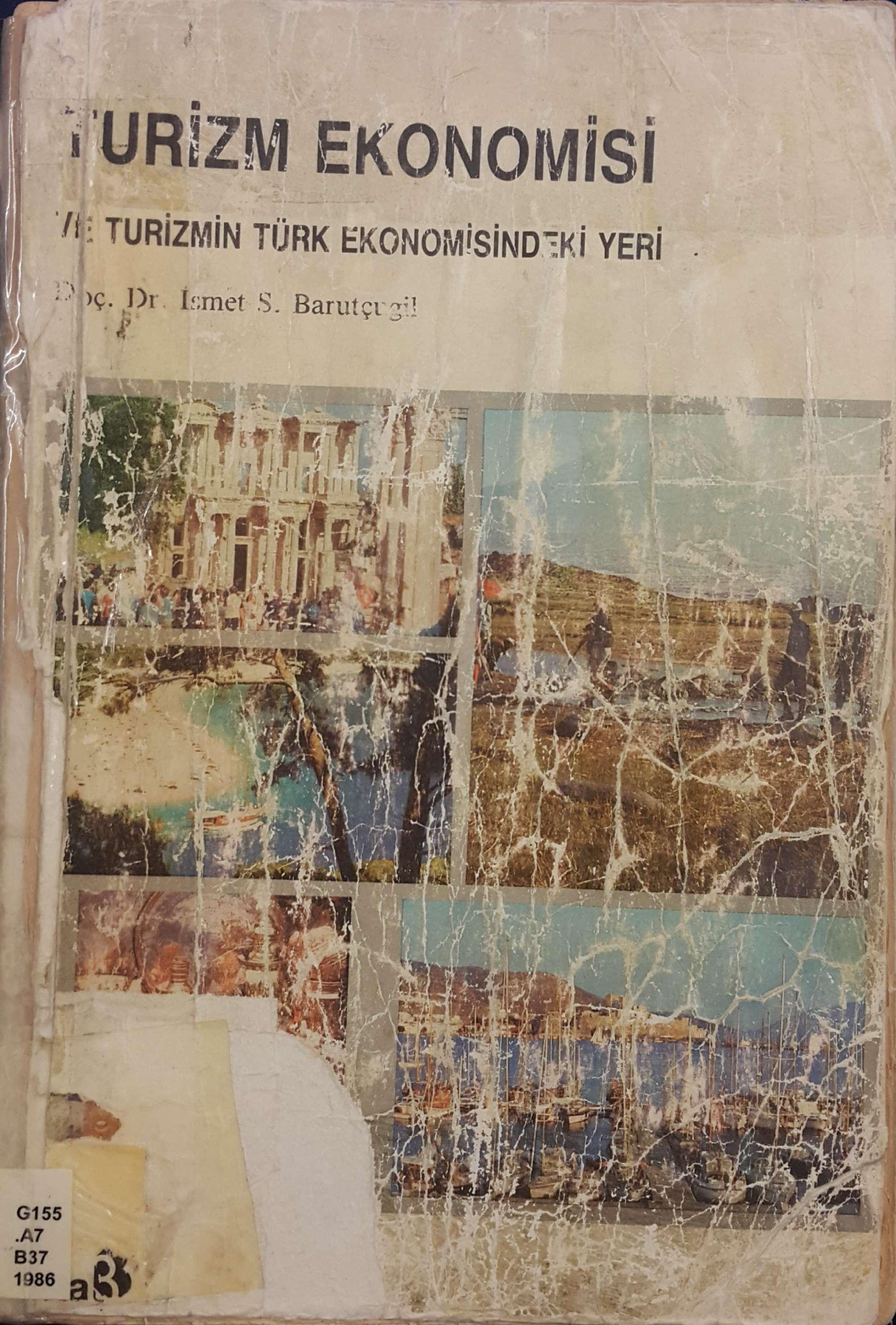 Turizm Ekonomisi ve Turizmin Türk Ekonomisindeki Yeri Kitap Kapağı