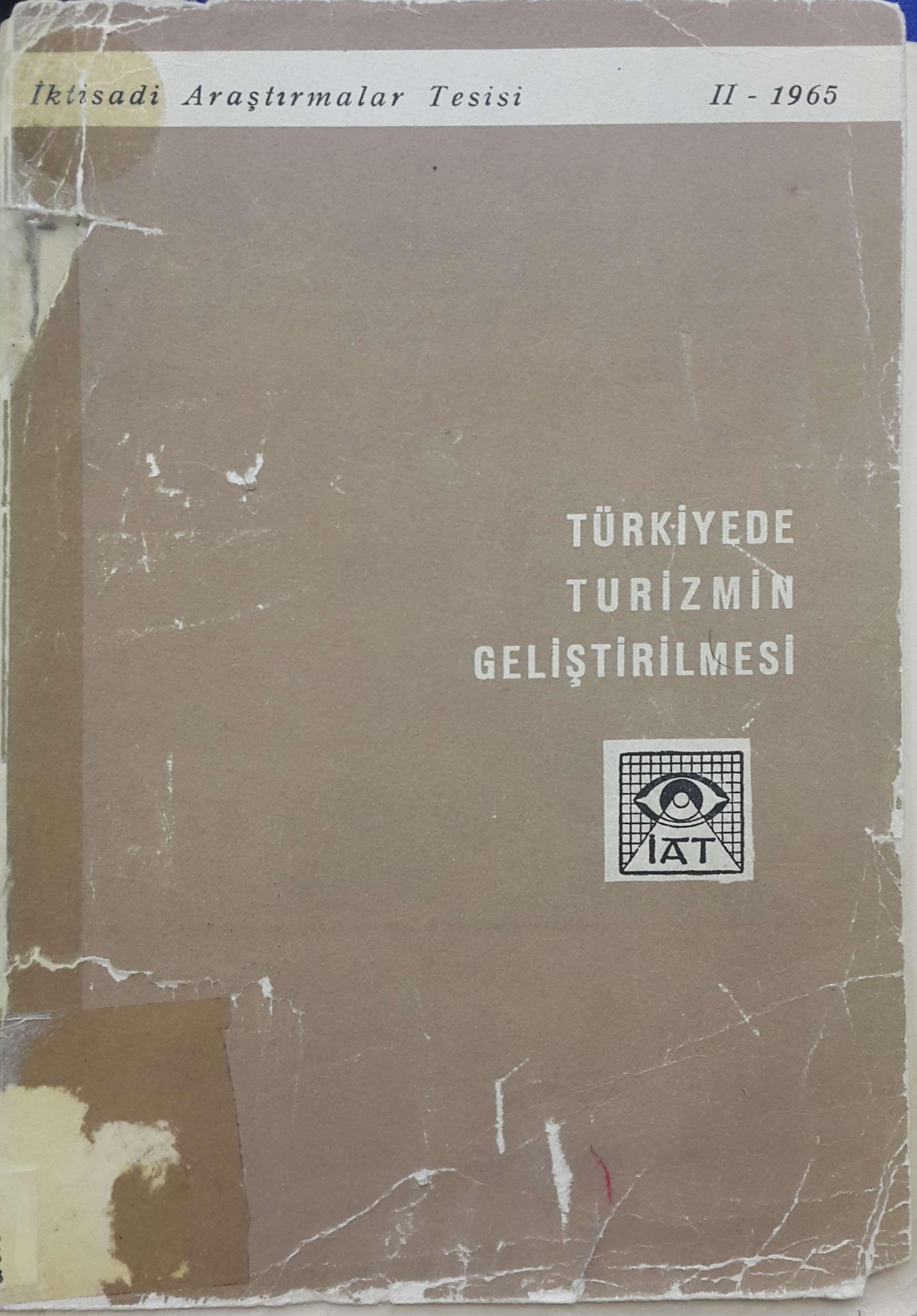 Türkiye'de Turizmin Geliştirilmesi Kitap Kapağı
