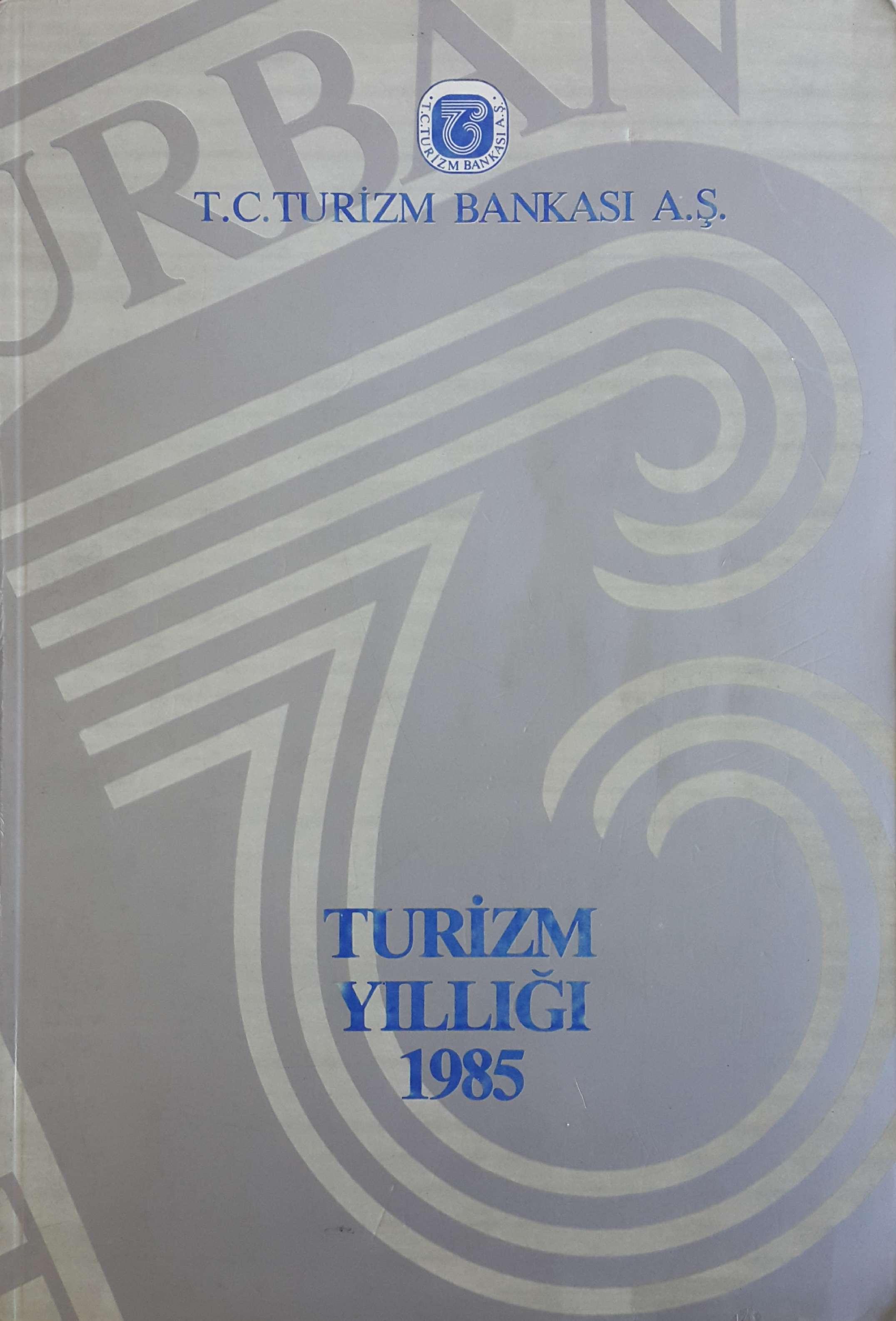 Turizm Yıllığı 1985 Kitap Kapağı