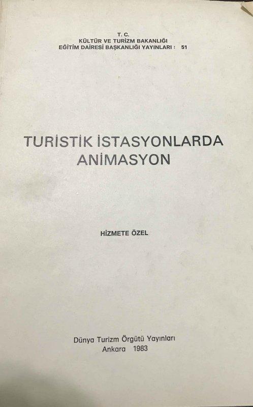 Turistik İstasyonlarda Animasyon Kitap Kapağı