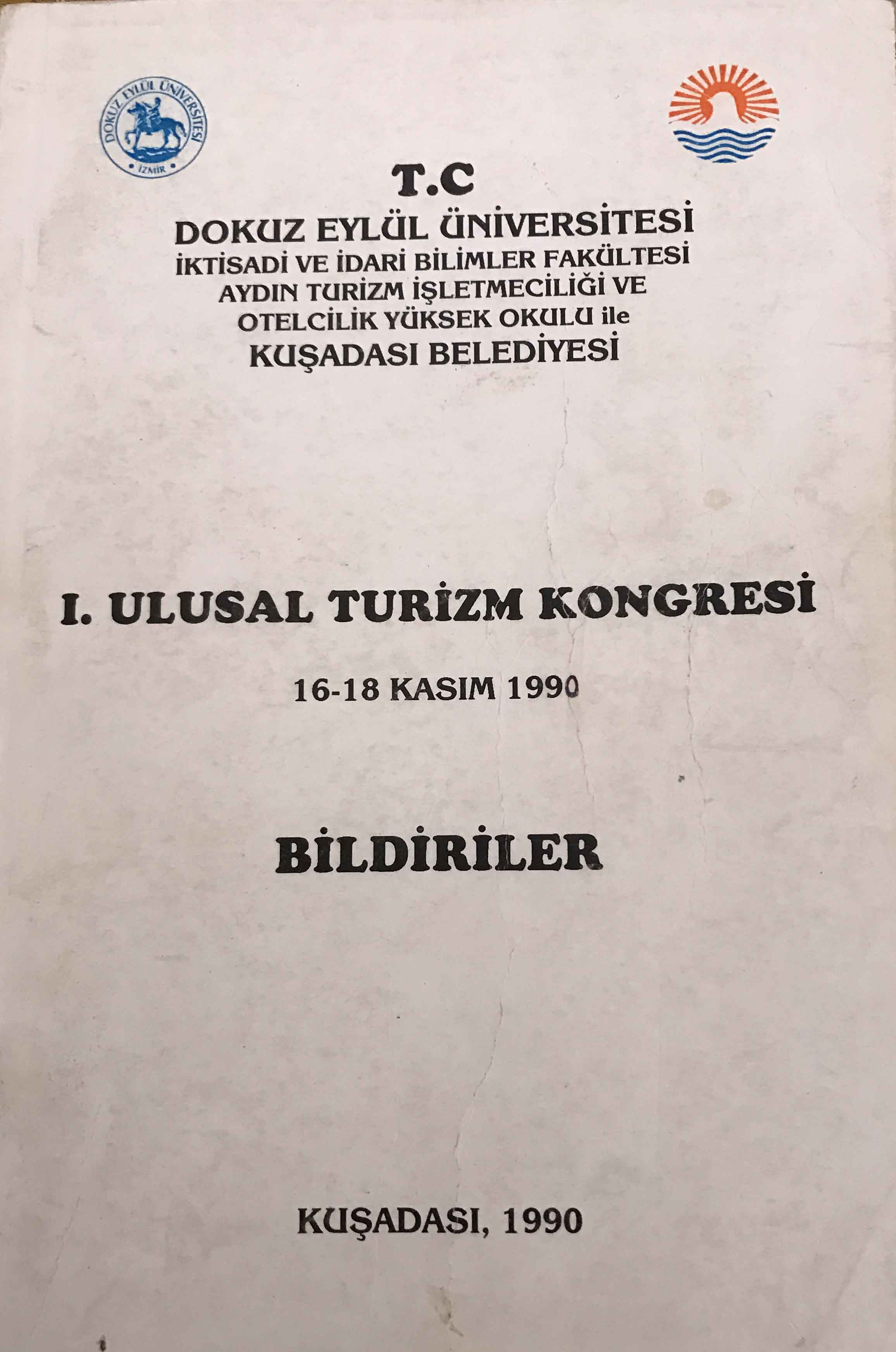 I. Ulusal Turizm Kongresi Kitap Kapağı