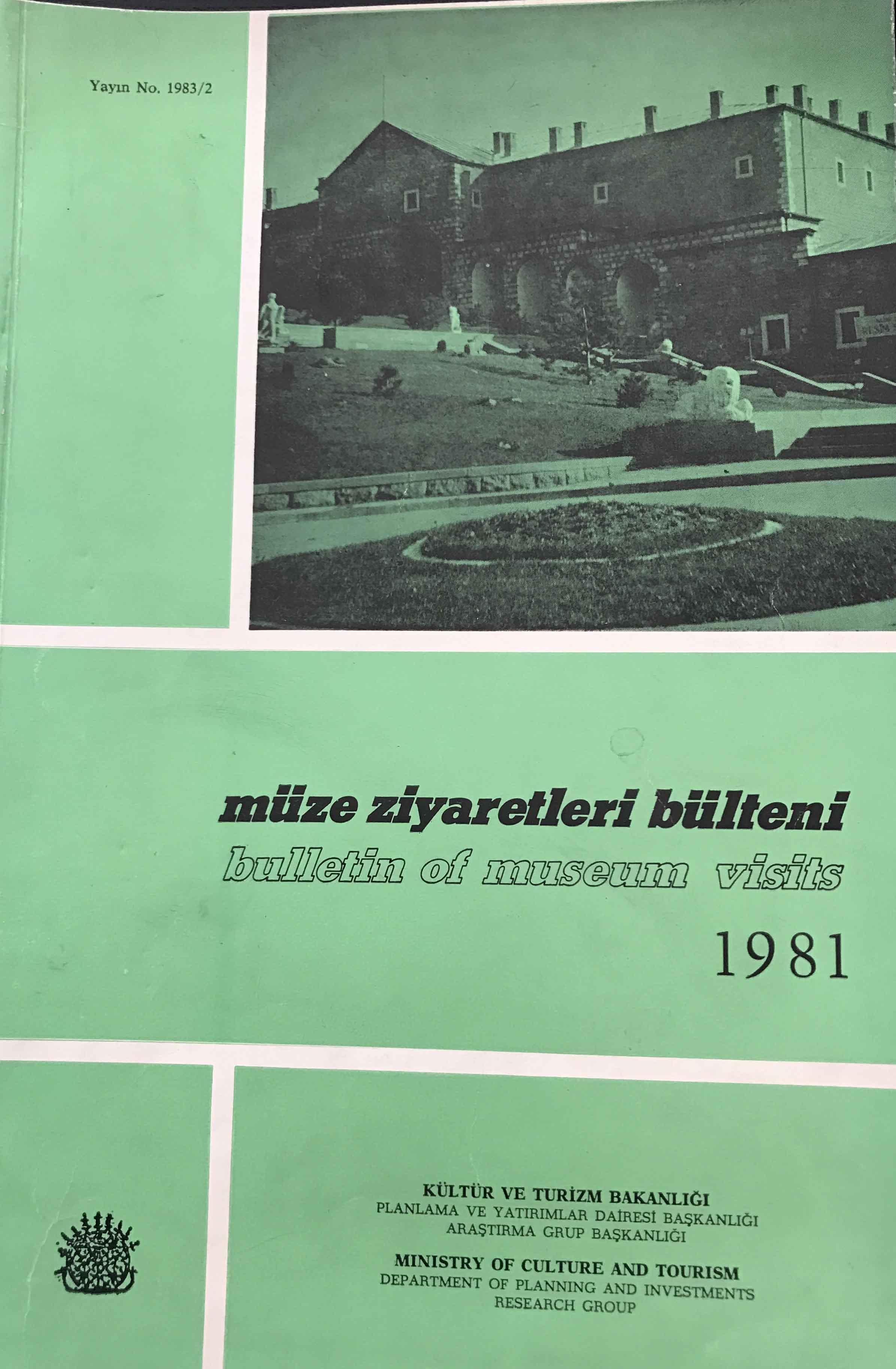 Müze Ziyaretleri Bülteni 1981 Kitap Kapağı