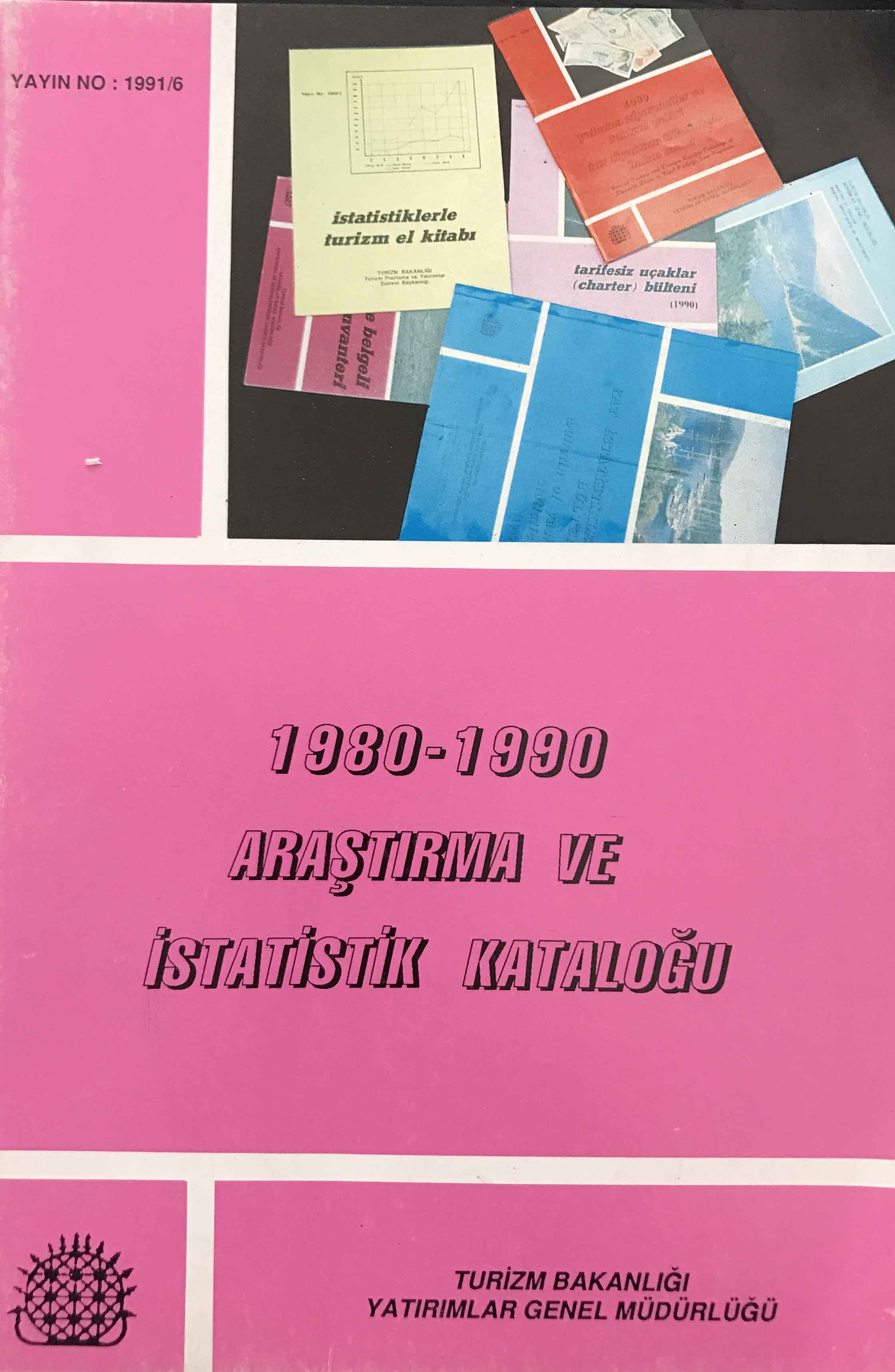1980-1990 Araştırma ve İstatistik Kataloğu Kitap Kapağı