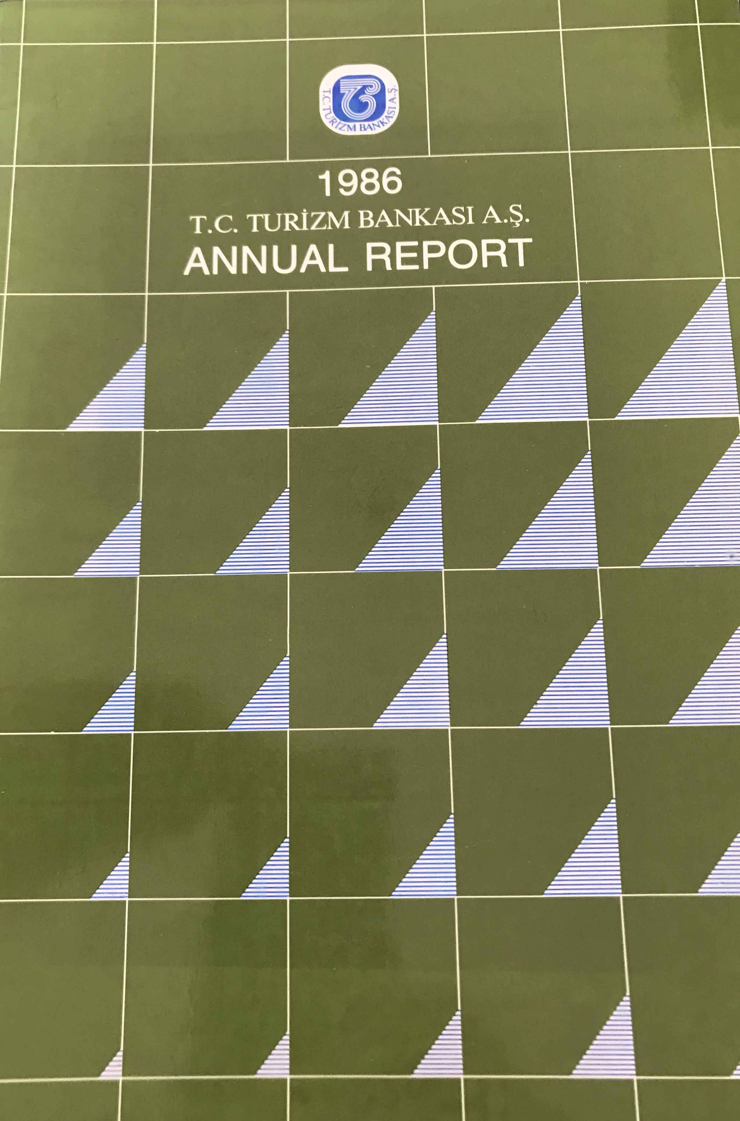 Turizm Bankası Annual Report 1986 Kitap Kapağı