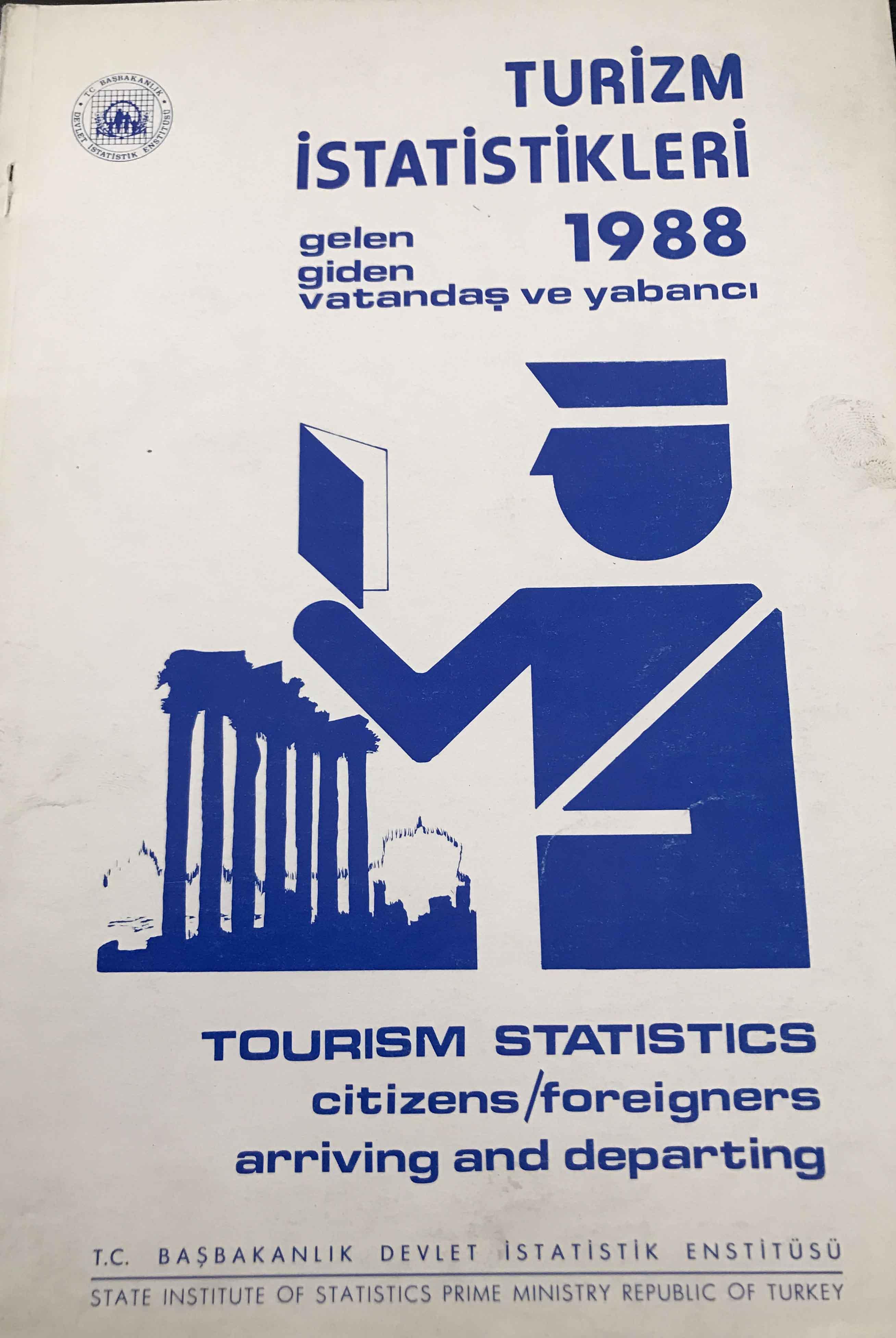Turizm İstatistikleri 1988 Kitap Kapağı