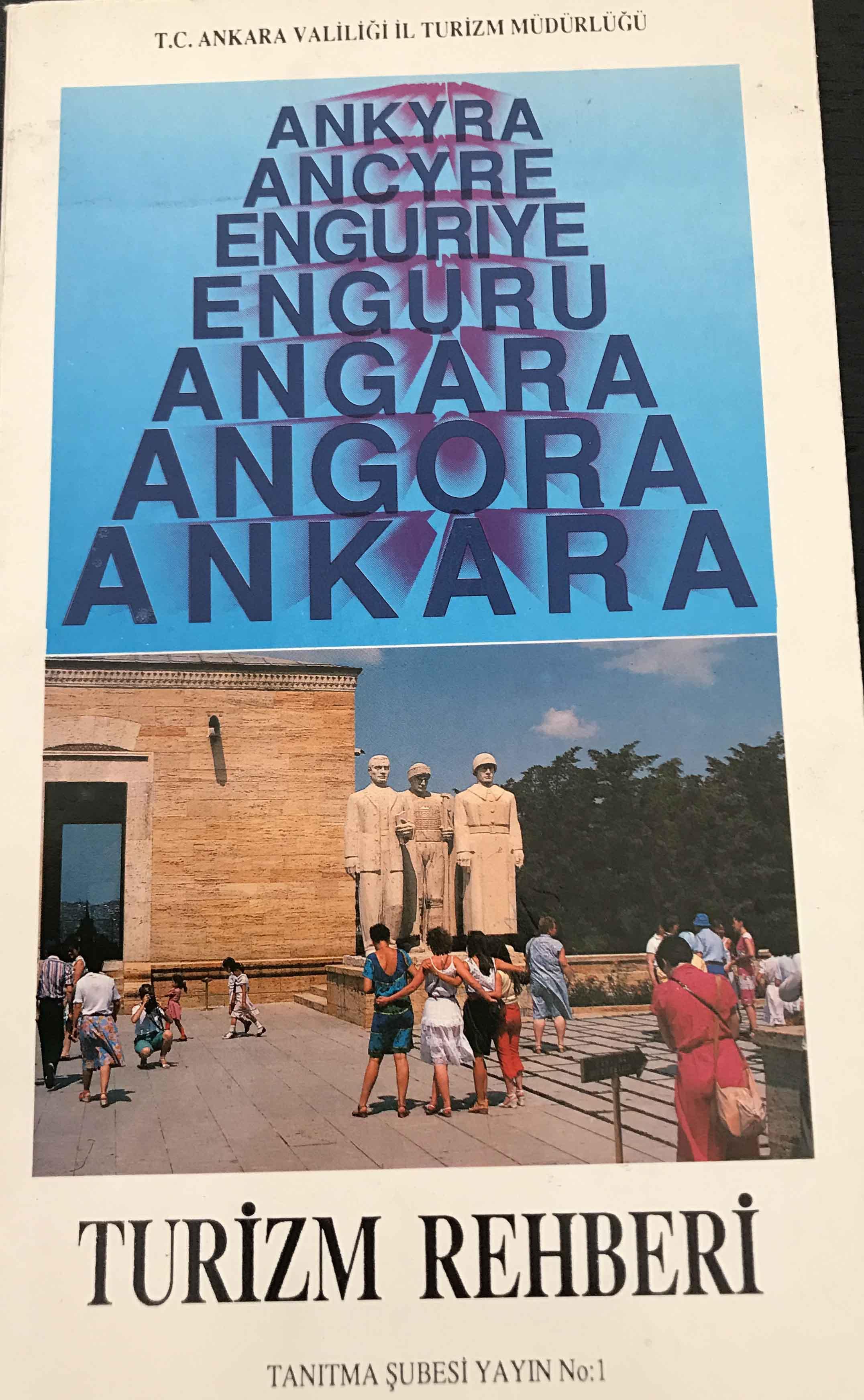 Ankara Turizm Rehberi Kitap Kapağı