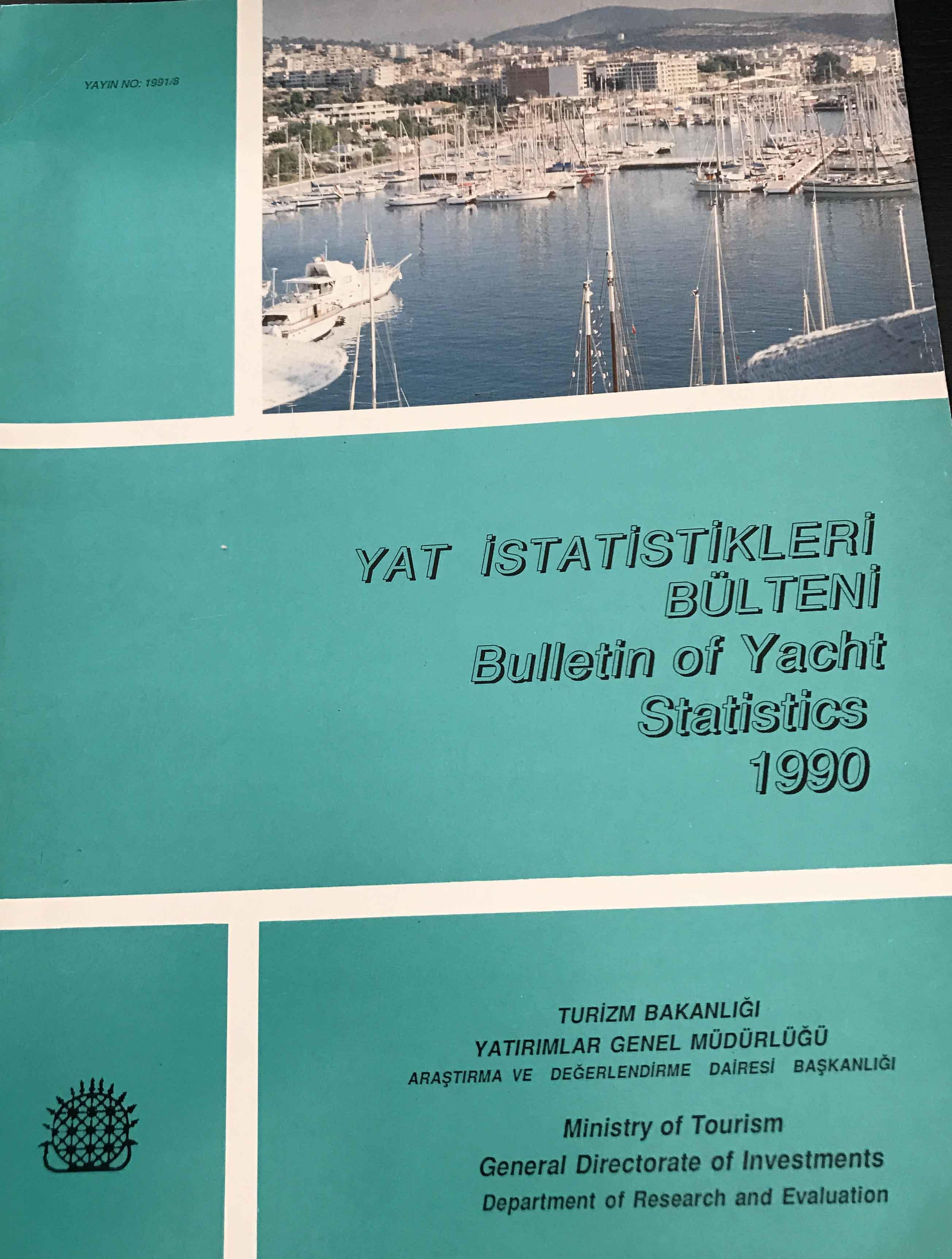Yat İstatistikleri Bülteni 1990 Kitap Kapağı