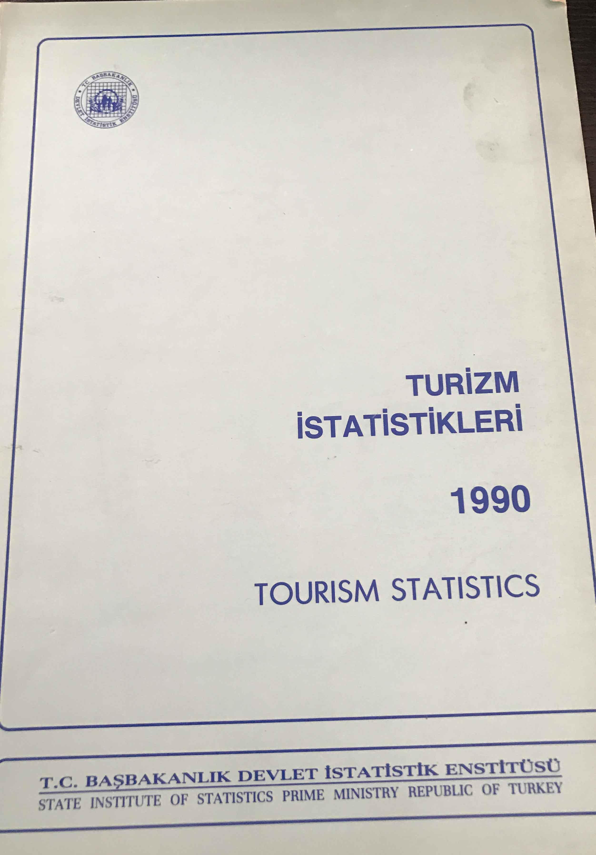Turizm İstatistikleri 1990 Kitap Kapağı