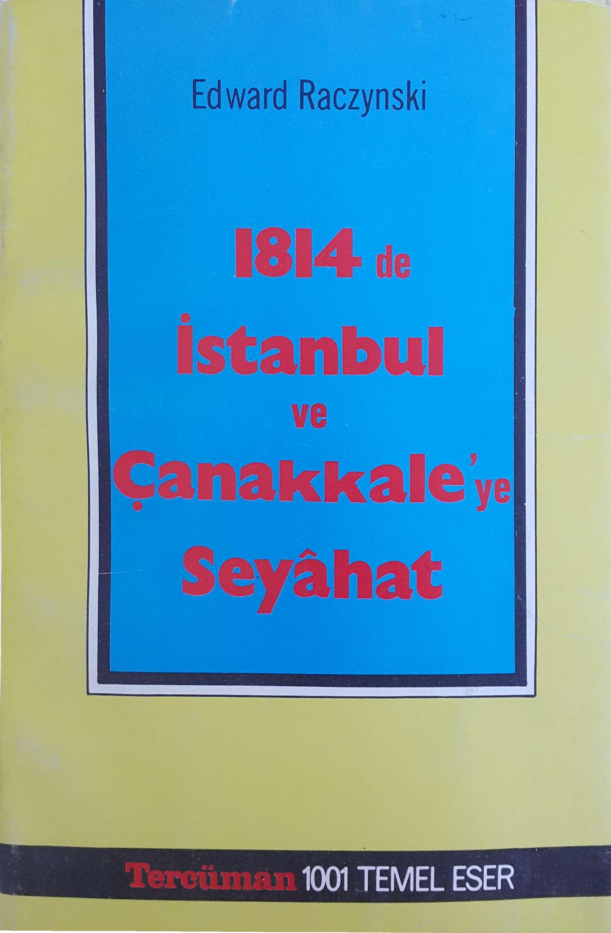 1814'te İstanbul ve Çanakkale'ye Seyahat Kitap Kapağı