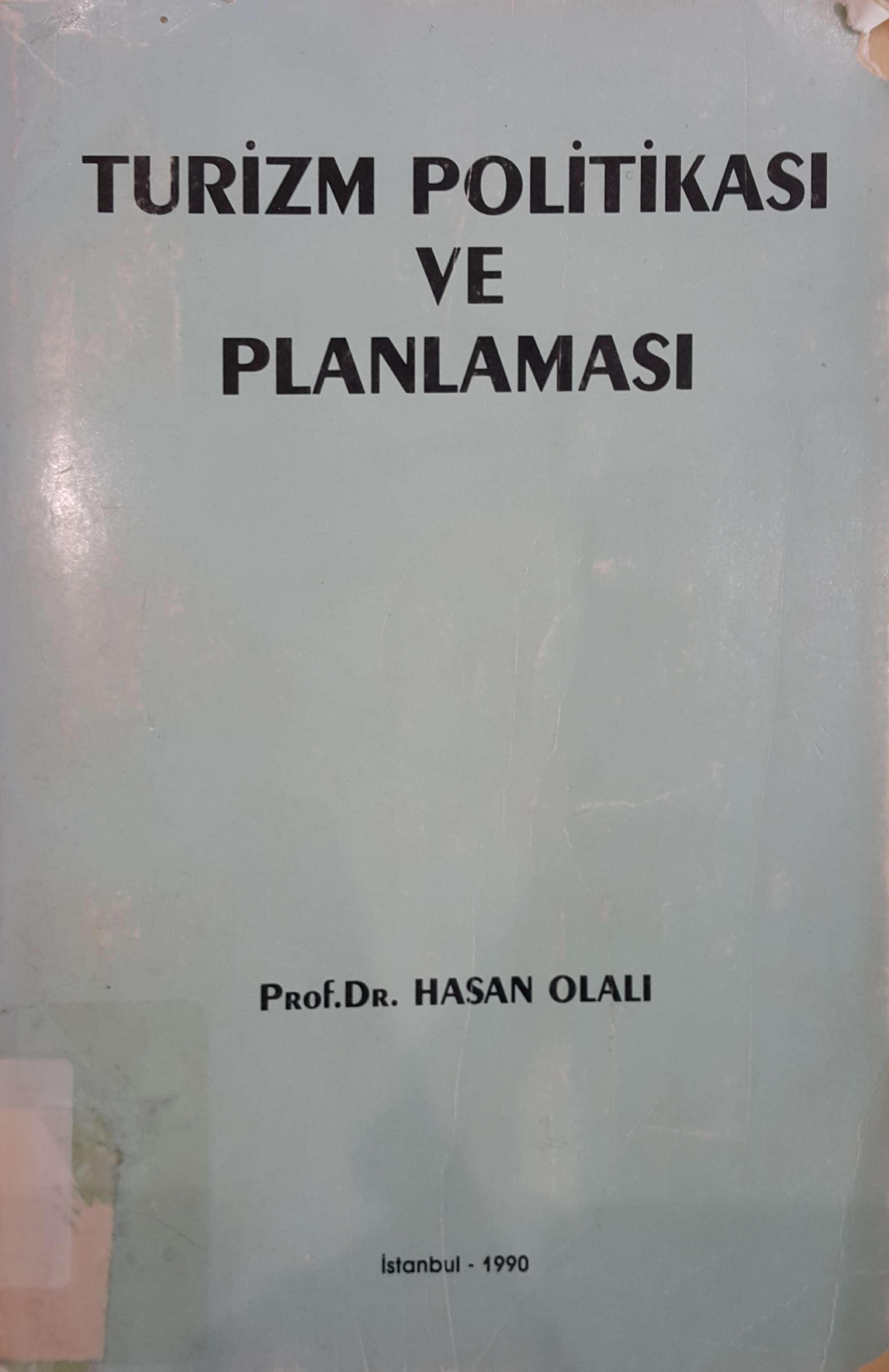 Turizm Politikası ve Planlaması Kitap Kapağı