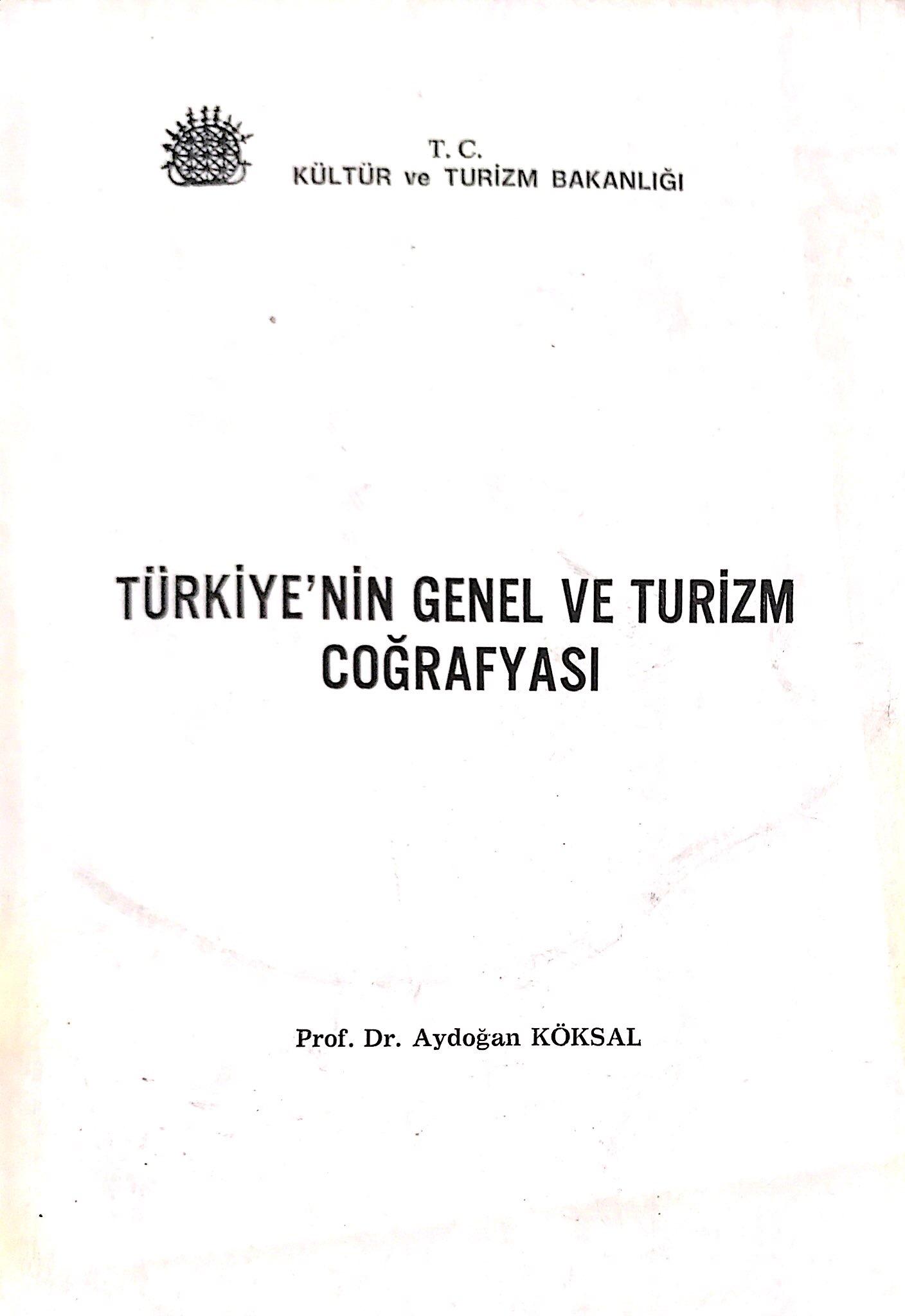 Türkiye'nin Genel ve Turizm Coğrafyası Kitap Kapağı
